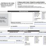 Planilla de solicitud de pasaporte. Modelo único para trámites migratorios