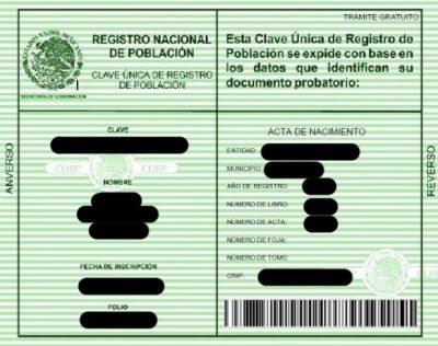 Qué Es El Curp Clave única De Registro De Población