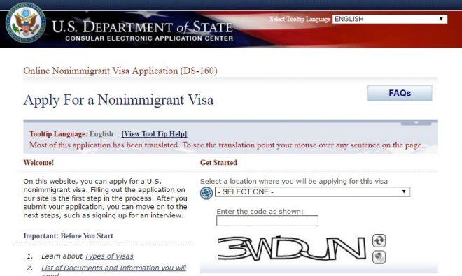 nuevo sistema de citas por internet para visas de no-inmigrante