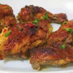 Pollo asado en el horno