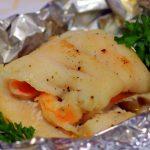 Rollo de pescado con camarones