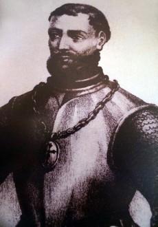 Pintura de Francisco Hernández de Córdoba en el Museo Histórico Naval, Veracruz, México