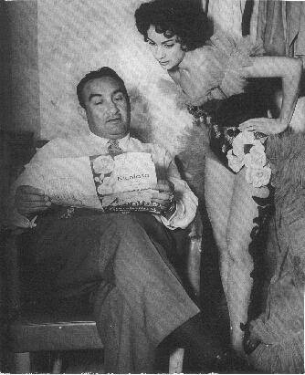 Pedro Vargas con la bailarina cubana Sonia Calero