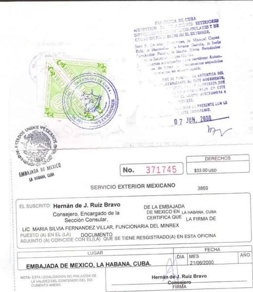 Legalización de documentos en Cuba