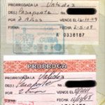 Pasaporte cubano. Prórrogas de pasaporte